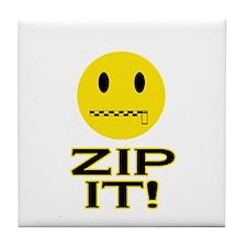 Zip It! Tile Coaster