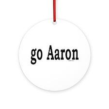 go Aaron Ornament (Round)