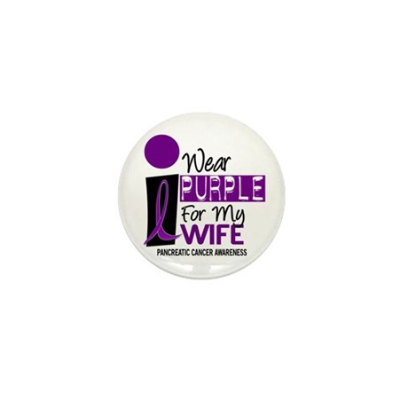 I Wear Purple For My Wife 9 PC Mini Button