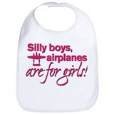 Airplane Cotton Bibs