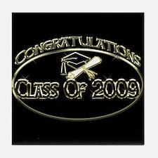 Class Of 2009 Black Tile Coaster