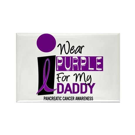 I Wear Purple For My Daddy 9 PC Rectangle Magnet