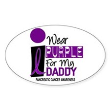 I Wear Purple For My Daddy 9 PC Oval Decal