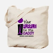 I Wear Purple For My Daddy 9 PC Tote Bag