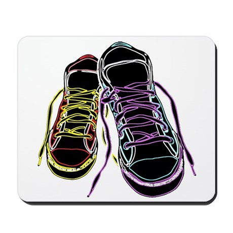 Neon Sneakers Mousepad