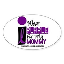 I Wear Purple For My Mommy 9 PC Oval Decal