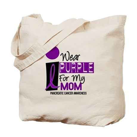 I Wear Purple For My Mom 9 PC Tote Bag