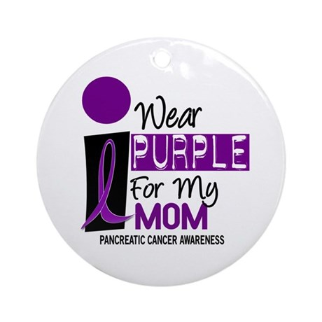 I Wear Purple For My Mom 9 PC Ornament (Round)