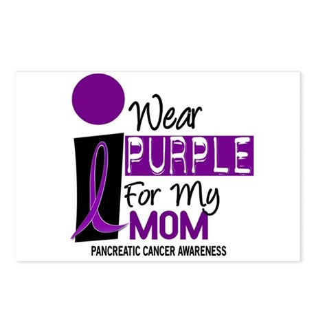 I Wear Purple For My Mom 9 PC Postcards (Package o