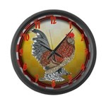 Country Bantam Rooster Large Wall Clock