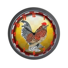 Country Bantam Rooster Wall Clock