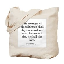 NUMBERS  35:19 Tote Bag