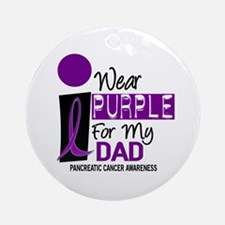I Wear Purple For My Dad 9 PC Ornament (Round)