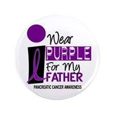 "I Wear Purple For My Father 9 PC 3.5"" Button"