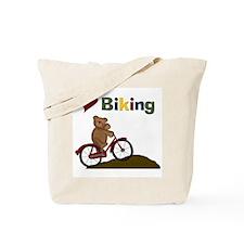 Red Bicycle Love Biking Tote Bag