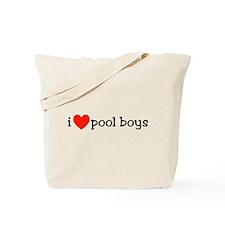 I Heart Pool Boys Tote Bag
