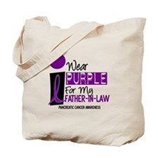 I Wear Purple For My Father-In-Law 9 PC Tote Bag