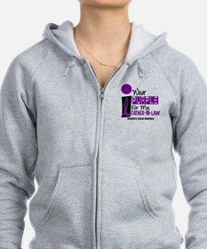 I Wear Purple For My Father-In-Law 9 PC Zip Hoodie
