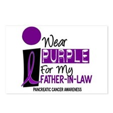 I Wear Purple For My Father-In-Law 9 PC Postcards