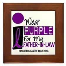 I Wear Purple For My Father-In-Law 9 PC Framed Til