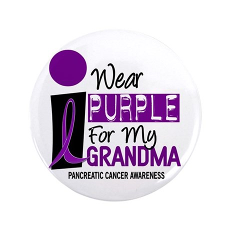 "I Wear Purple For My Grandma 9 PC 3.5"" Button"