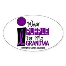 I Wear Purple For My Grandma 9 PC Oval Decal