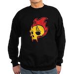Flaming Devil Skull Tattoo Sweatshirt (dark)
