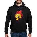 Flaming Devil Skull Tattoo Hoodie (dark)
