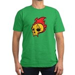 Flaming Devil Skull Tattoo Men's Fitted T-Shirt (d