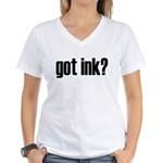 Got Ink? Tattoo Women's V-Neck T-Shirt