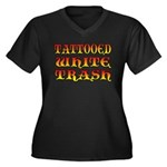Tattooed White Trash V3 Women's Plus Size V-Neck D