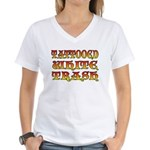 Tattooed White Trash V3 Women's V-Neck T-Shirt
