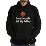 Jesus Loves Me And My Tattoos Hoodie (dark)