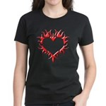 Tribal Heart (Red 3D) Women's Dark T-Shirt