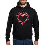 Tribal Heart (Red 3D) Hoodie (dark)