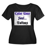 Color Your Soul Women's Plus Size Scoop Neck Dark