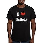 I Love (Heart) Tattoos Men's Fitted T-Shirt (dark)