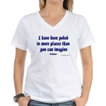 Poked in More Places Women's V-Neck T-Shirt