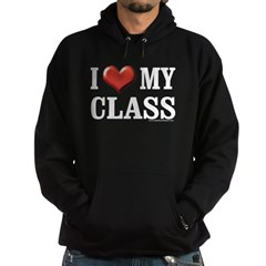 I Heart (Love) My Class Hoodie (dark)