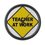 Teacher At Work Large Wall Clock