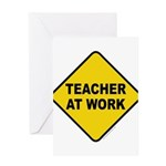 Teacher At Work Greeting Card