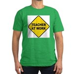 Teacher At Work Men's Fitted T-Shirt (dark)