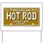Hot Rod License Plate Yard Sign