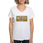 Hot Rod License Plate Women's V-Neck T-Shirt