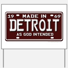 made in Detroit 1969 Yard Sign