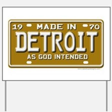 Made in Detroit Yard Sign