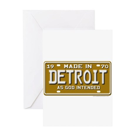 Made in Detroit Greeting Card