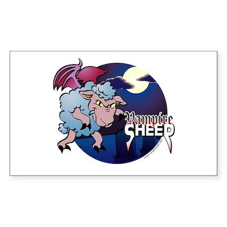 Vampire Sheep - Items and App Sticker (Rectangular