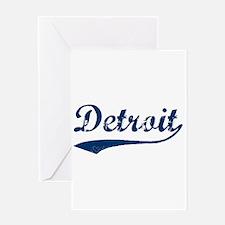 Detroit Script Distressed Greeting Card