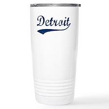Detroit Script Distressed Travel Mug